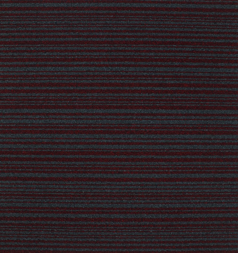 CUADRO - HAWAII  CARPET TILE  ( P.A ) Şeritli Bordo